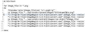Script .sh per utilizzare ImageMagick su Windows