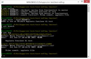 Git reflog - Ripristino commit