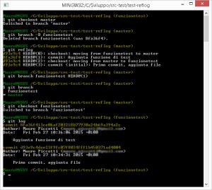 Git reflog - Ripristino ramo