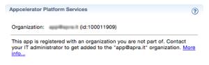 …e quando invece si esegue il login con un account diverso da quello con cui si è registrata l'app