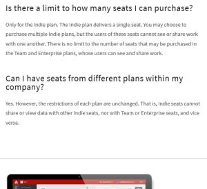 Dicitura alquanto preoccupante che spiega le limitazioni della licenza Indie