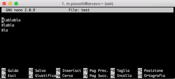 GNU nano editor, troppo lusso in alcuni casi