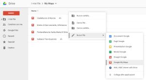 Nuova mappa da Google Drive