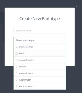 I tipi di prototipi disponibili