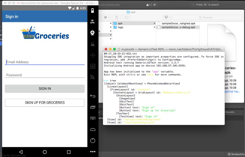 Il tree in un'applicazione Native Script